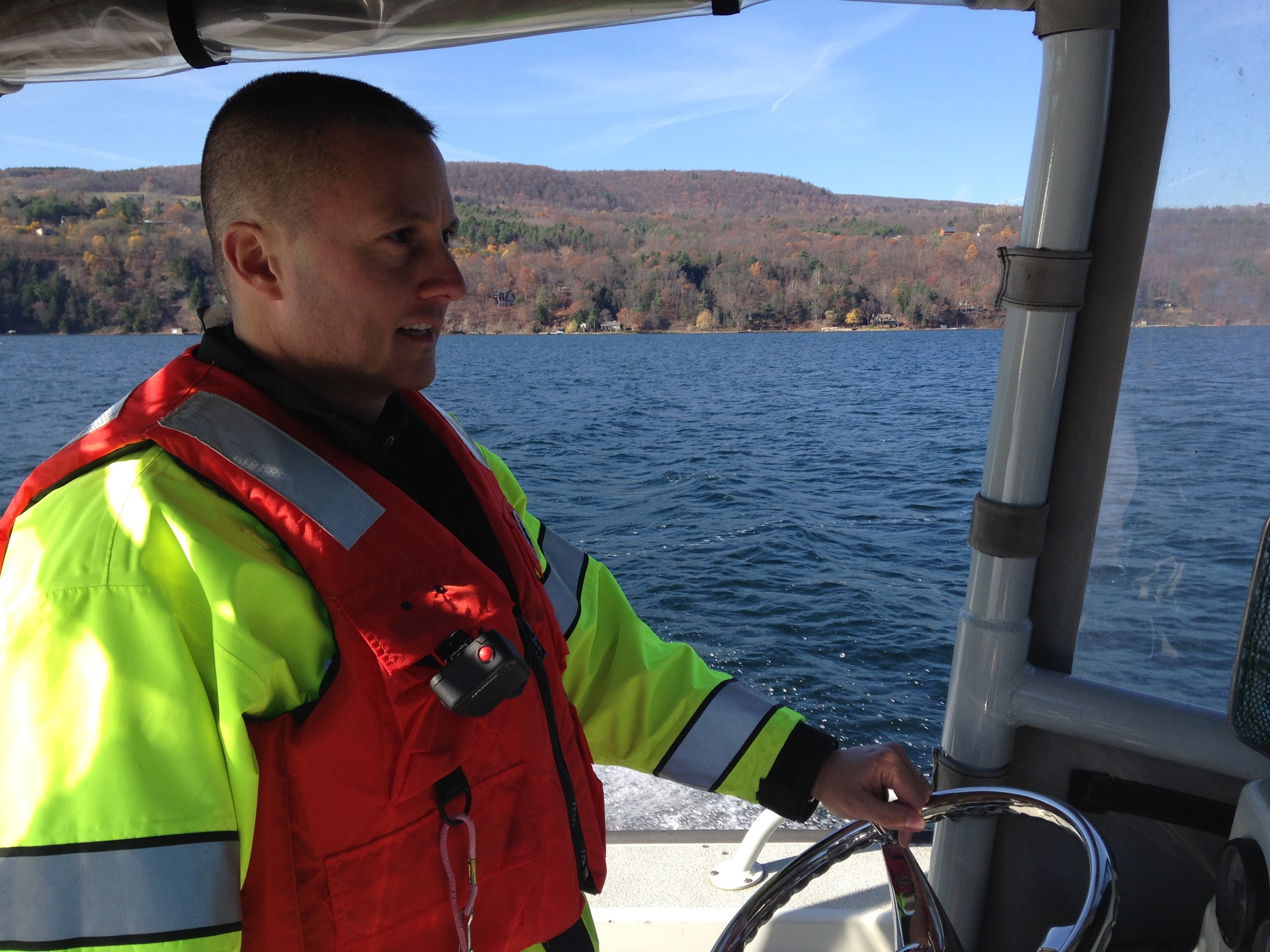 Sgt Cirencione at the helm