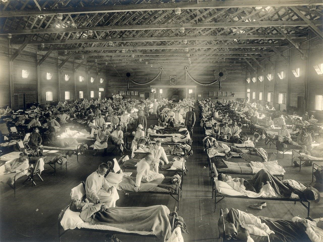 Fort Riley Soldiers with Spanish Flu