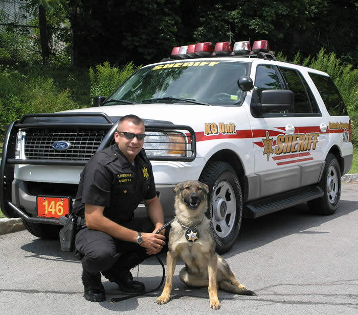 K-9 Frenkie and Deputy P. Fitzgerald